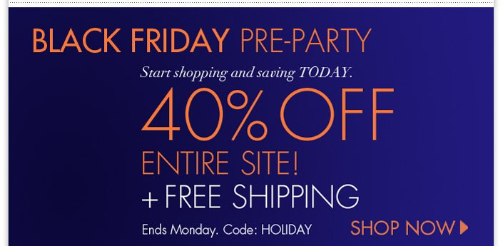 Black Friday Pre-Party! Enjoy 40% OFF the entire site! Plus Free Shipping. Use code: HOLIDAY