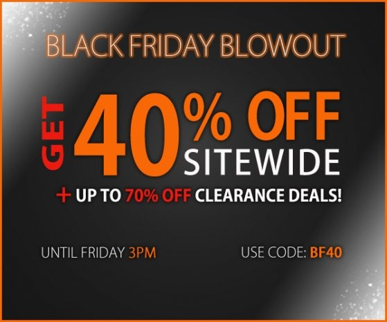 Get 40% Off for Black Friday