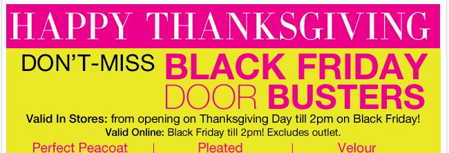Don't miss this these Black Friday Doorbusters. Only till 2pm!