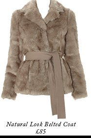 Natural Look Belted Coat