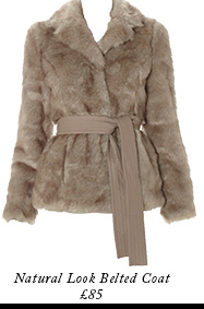Natural Look Belted Coat