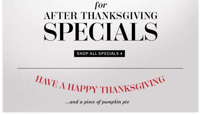 Shop All Specials