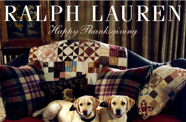 Happy Thanksgiving From Ralph Lauren