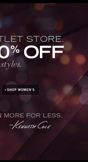 ET 50% OFF SELECT STYLES / SHOP WOMEN'S