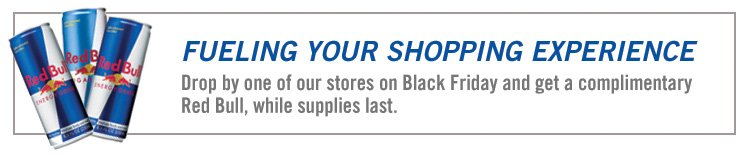 Power Your Black Friday Shopping with Redbull!
