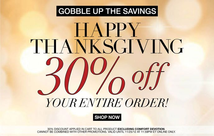 Gobble Up the Savings: Happy Thanksgiving 30% Off Your Entire Order!