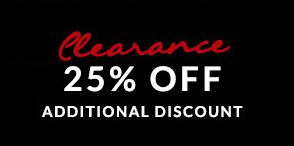 25% Off Clearance