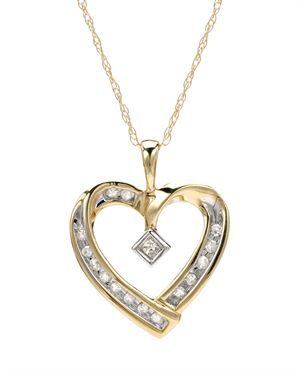 Ladies Necklace Designed In 10K Two Tone Gold