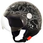 SMS Classico Angel Black Helmet