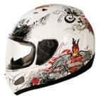 SMS Rhode Tattoo White Helmet