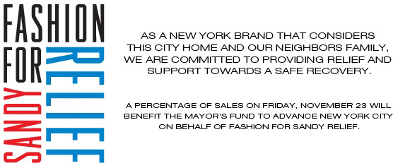 FASHION FOR SANDY RELIEF