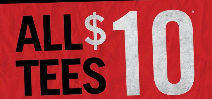 ALL TEES $10