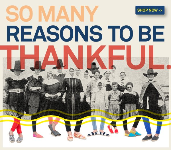 Celebrate Thanksgiving and 30% off