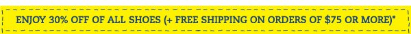 30% off (& Free Shipping on $75+)