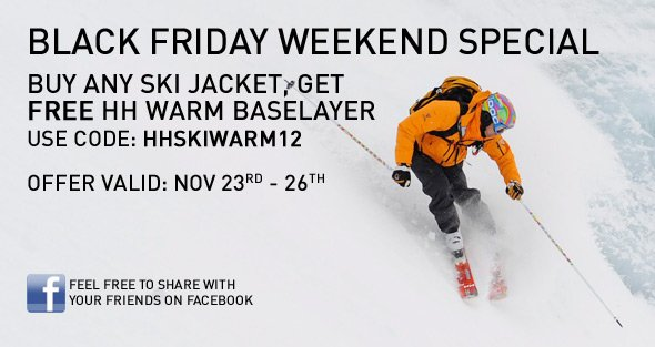 Helly Hansen Black Friday Weekend Special