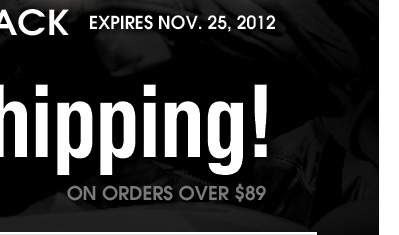 Free Shipping allies on orders over $89