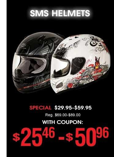 SMS Helmets - $25 - 50