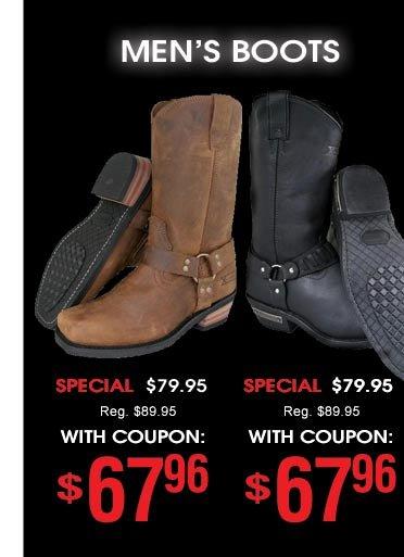 Men's Boots - $67