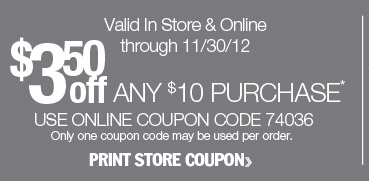 $3.50 off any $10 purchase