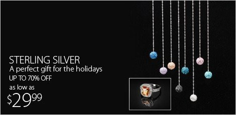 Sterling Silver-A perfect gift for the holidays