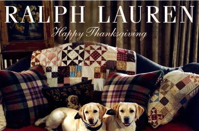 Happy Thanksgiving From Ralph Lauren