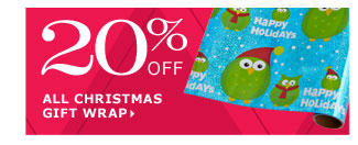 20% off all Christmas gift wrap