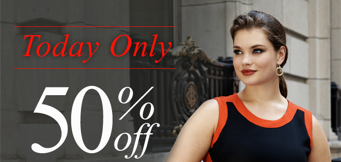 Today Only 50% off Everything