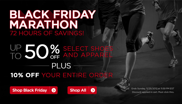 Black Friday Marathon. Shop Now.