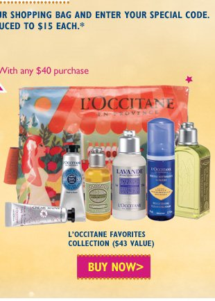L'Occitane's Favorites $15 ($43 Value) Buy Now