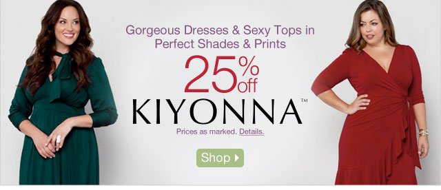 Gorgeous Dresses & Sexy Tops in Perfect Shades & Prints- 25% off Kiyonna