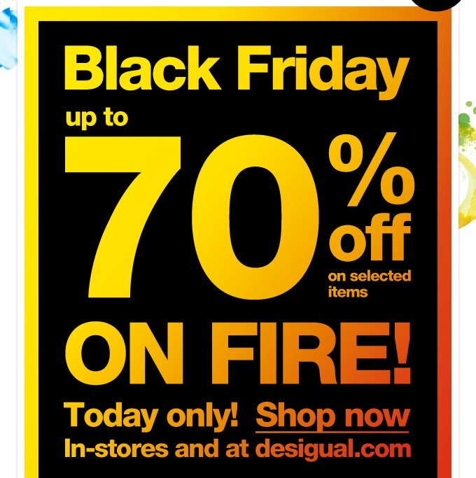 Black Friday up to 70% off on selected items