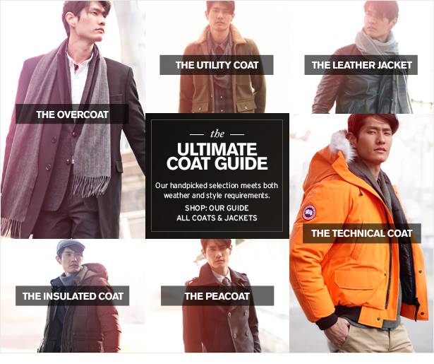 the ULTIMATE COAT GUIDE - Our handpicked selection meets both weather and style requirements.