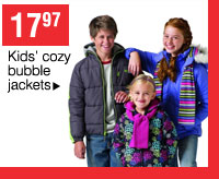 17.97 Kids' cozy bubble jackets