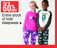 60% off Entire stock of sleepwear