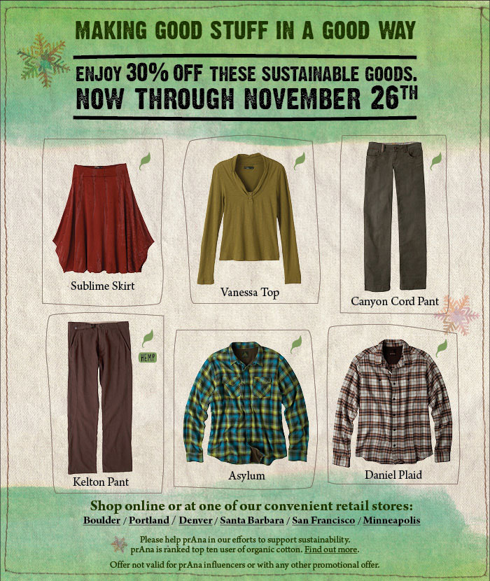 30% off Sustainable Goods
