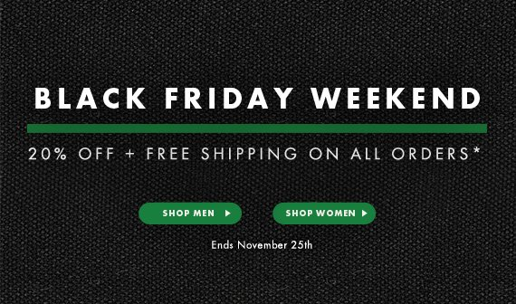 Black Friday - 20% Off + Free Shipping on All Orders