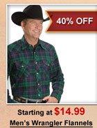 Men's Wrangler Flannels
