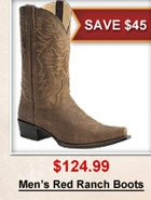 Men's Red Ranch Boots
