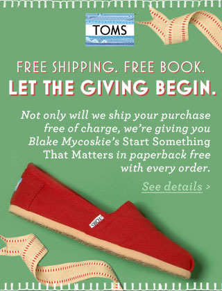 Free Shipping. Free Book. Let the Giving Begin