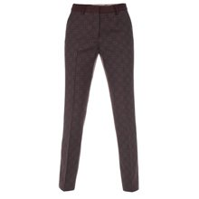 Paul Smith Trousers - Tie Print Slim Leg Trousers
