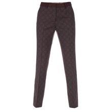 Paul Smith Trousers - Tie Print Slim Leg Trousers