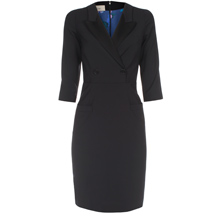 Paul Smith Dresses - Black Double-Breasted Tuxedo Dress