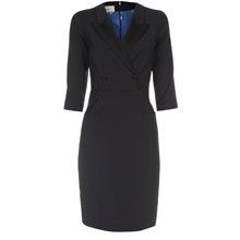 Paul Smith Dresses - Black Double-Breasted Tuxedo Dress