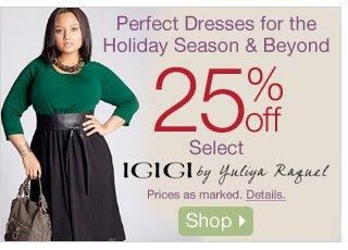 Perfect Dresses for the Holiday Season & Beyond- 25% off Select IGIGI by Yuliya Raquel