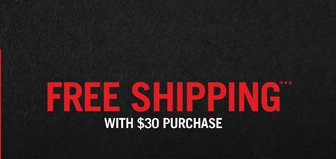 FREE SHIPPING WITH $30 PURCHASE