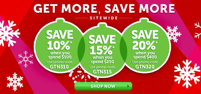 Get More Save More Sitewide - wrap up the biggest savings of the year