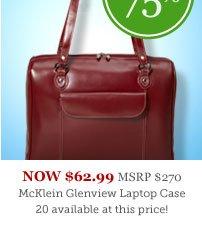"McKlein Glenview 15.4"" Leather Ladies Laptop Case"