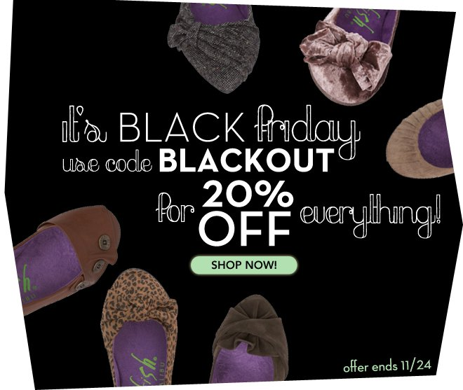 2 Day Exclusive Black Friday Sale: 20% off Everything!