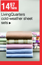14.97 Twin LivingQuarters cold-weather sheet sets