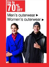 Up to 70% off Men's and women's outerwear